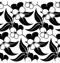 pansy floral black isolated seamless background vector image vector image