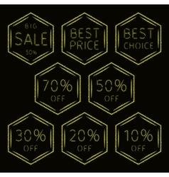 Sale signs set of lights vector image