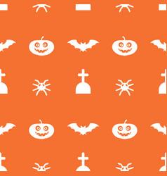 Digital orange happy halloween vector