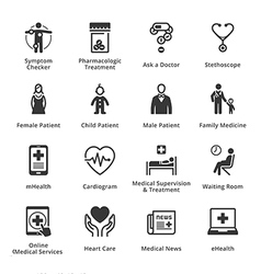 Medical and Health Care Icons - Set 2 vector image vector image
