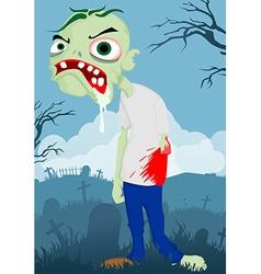 Cartoon zombie vector