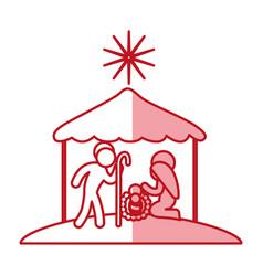 christmas manger symbol vector image