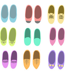 Colorful flat shoes vector image