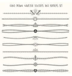Nautical dividers set vector