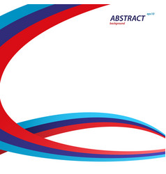 red blue and dark blue color swirl concept vector image vector image