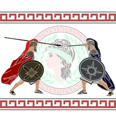 trojan war stencil second variant vector image vector image