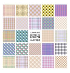 24 tartan seamless pattern vector image