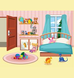 A kid bedroom background vector