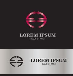 abstract letter e arrow logo vector image