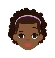 Afro american girl vector