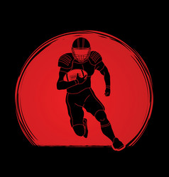 american football player action vector image
