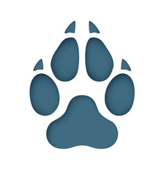 animal footprint cut from paper vector image