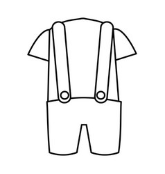 Australian typical clothes male vector