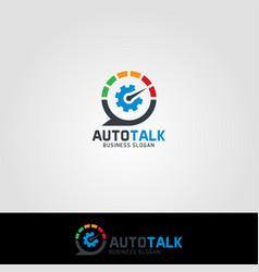 Auto talk - auto care consultation logo vector