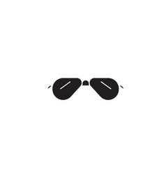 aviator sunglasses black concept icon vector image