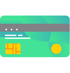 Bank credit or debit card icon isolated vector