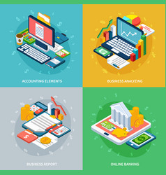 Banking business design concept vector