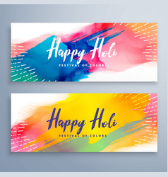 banners for holi festival vector image vector image