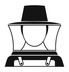 Beekeeper icon simple style vector