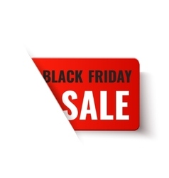 Black Friday Sale - red banner vector