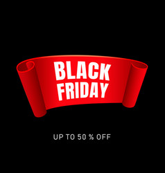 black friday special sale concept background vector image