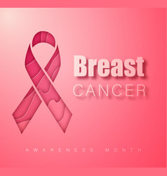 breast cancer awareness symbol pink ribbon vector image