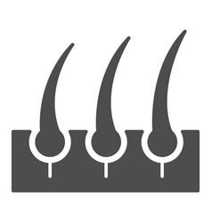 Bristle hair solid icon shaving vector