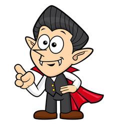 Cartoon dracula character orders halloween day vector