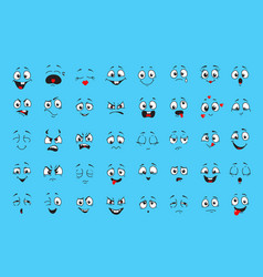 cartoon faces for humor or comics design vector image