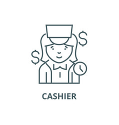 Cashier line icon cashier outline sign vector