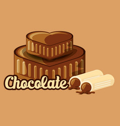 Chocolate concept design vector