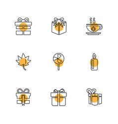 Christmas eve snowflakes tress christmas vector