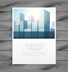 Clean business brochure flyer cover template vector