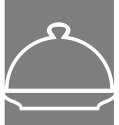 Cloche Poster Silhouette line cover for hot meals vector image