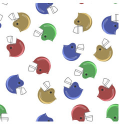 Colored sport football helmet seamless pattern vector