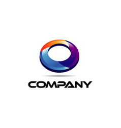 colorful ellipse logo sign symbol icon vector image