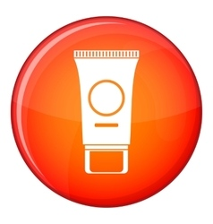 Cosmetic cream tube icon flat style vector