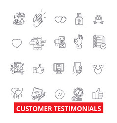 Customer testimonials satisfaction reviews vector