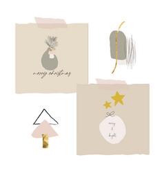 cute modern abstract christmas clip art vector image