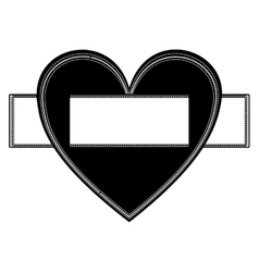 decorative label icon vector image