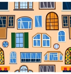 Different house windows elements vector image