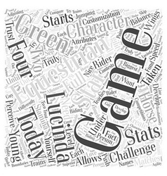 Equestrian challenge Word Cloud Concept vector
