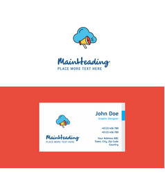 flat cloud music logo and visiting card template vector image
