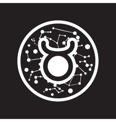 flat icon in black and white style zodiac sign vector image