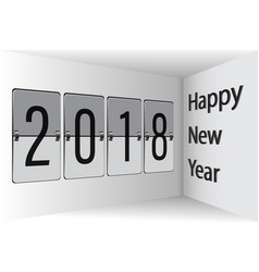 flip board happy new year 2018 3d vector image