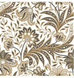 Floral seamless pattern flourish oriental ethnic vector