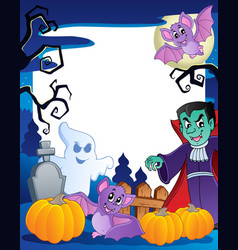 Frame with halloween topic 6 vector
