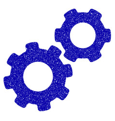 gears icon grunge watermark vector image