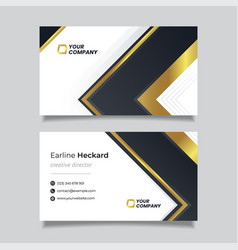 golden luxury modern business card template vector image