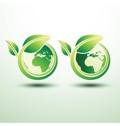 Green global label2 vector image vector image